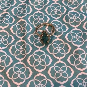 Kendra Scott Turquoise and Gold Ring